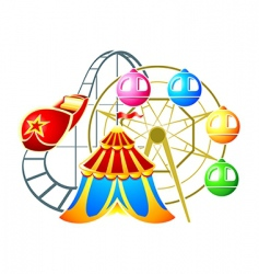 Amusement park symbol vector