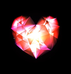 Crystal Heart vector image