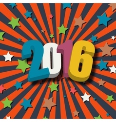 New Year 2016 poster vector image