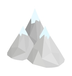 Mountain icon isometric 3d style vector