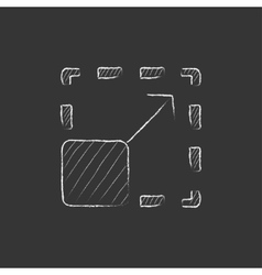 Scalability Drawn in chalk icon vector image