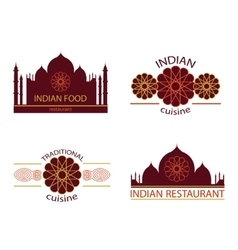 Indian food restaurant vector