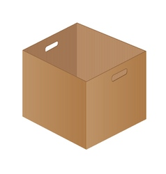 Brown paper box on a white background one brown vector
