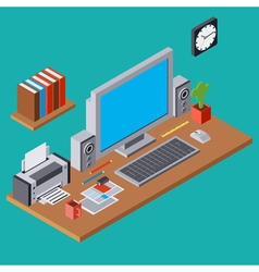 Computer workplace vector