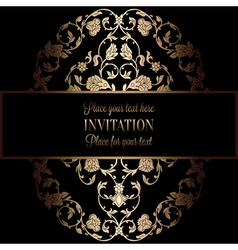 Abstract background with antique luxury black and vector image vector image