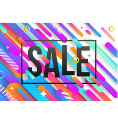 abstract multicolored background with sale banner vector image vector image