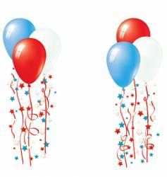 American patriotic balloons vector image vector image