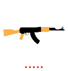Assault rifle icon flat style vector