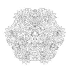 Beautiful Deco Monochrome Triangle vector image