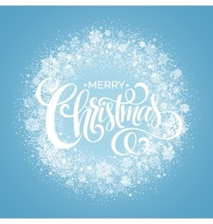 Blue Christmas Snowflake Wreath vector image vector image