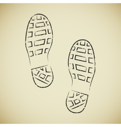 Boots footprints vector