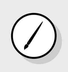 Brush sign flat black icon vector