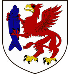 Coat of arms of szczecinek in west pomeranian vector