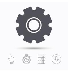 Cogwheel icon repair service sign vector