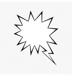 Comic speech bubble symbol vector