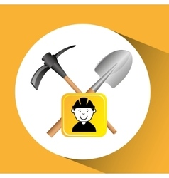 Construction worker tools graphic vector