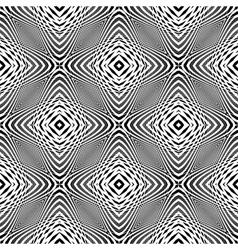 Design monochrome seamless geometric background vector