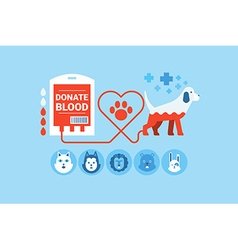Dog Blood Donation Concept vector image vector image
