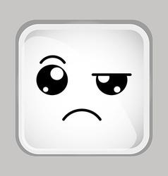 emoticon face vector image vector image