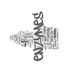 Enzymes and you text background word cloud concept vector