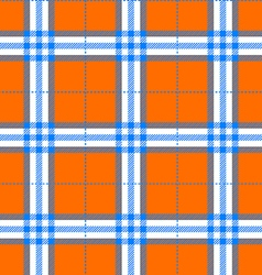 fabric texture in a square pattern seamless orange vector image vector image