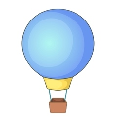 Flying balloon icon cartoon style vector