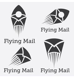 flying mail design template vector image