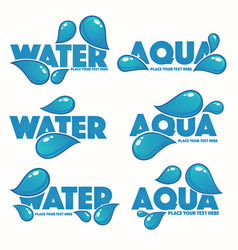 glossy and shine set of water design logo vector image vector image