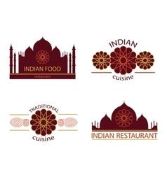 Indian food restaurant vector