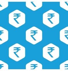 Indian rupee hexagon pattern vector