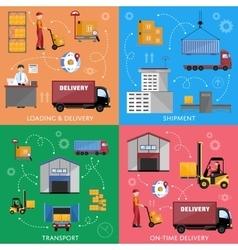 Logistic process infographics vector