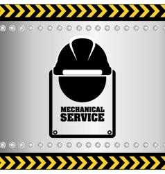 mechanical service design vector image