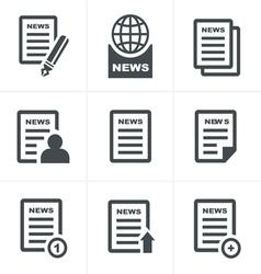 Newspaper icons set vector