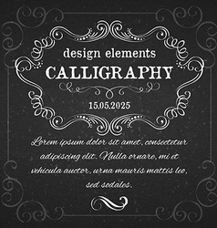 page decoration calligraphic design elements vector image