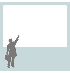 Person at stand vector image