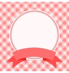 Red frame for invitation card vector