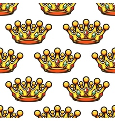 Seamless pattern of a royal golden crown vector image vector image