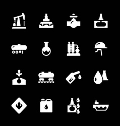 Set icons of oil industry vector
