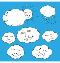 sky elements vector image