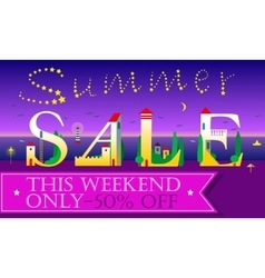Summer Sale Card for retail vector image