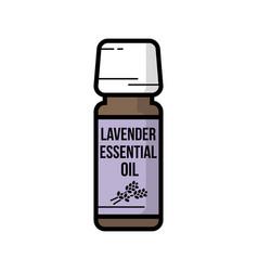 vintage icon lavender essential oil glass flacon vector image