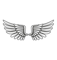 vintage wings 3 vector image
