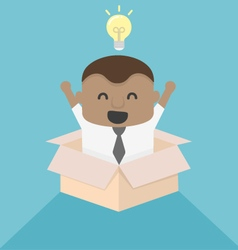 Young African businessman Concept image outside th vector image vector image