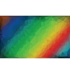 Polygonal rainbow background vector image