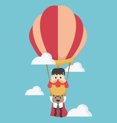 Concept help fellow businessmen to success vector