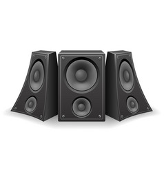 Twisted music speaker isolated 3d realistic design vector
