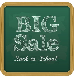 chalkboard back to school text big sale vector image