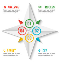 Business infographic scheme in star shape on white vector