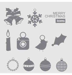 Christmas and new year icon vector