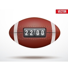 American football ball with score of the game vector